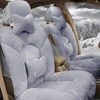 Winter New Plush car seat covers Universal for Suzuki Swift Wagon GRAND VITARA Jimny Liana 2 Sedan Vitara sx4 auto accessories