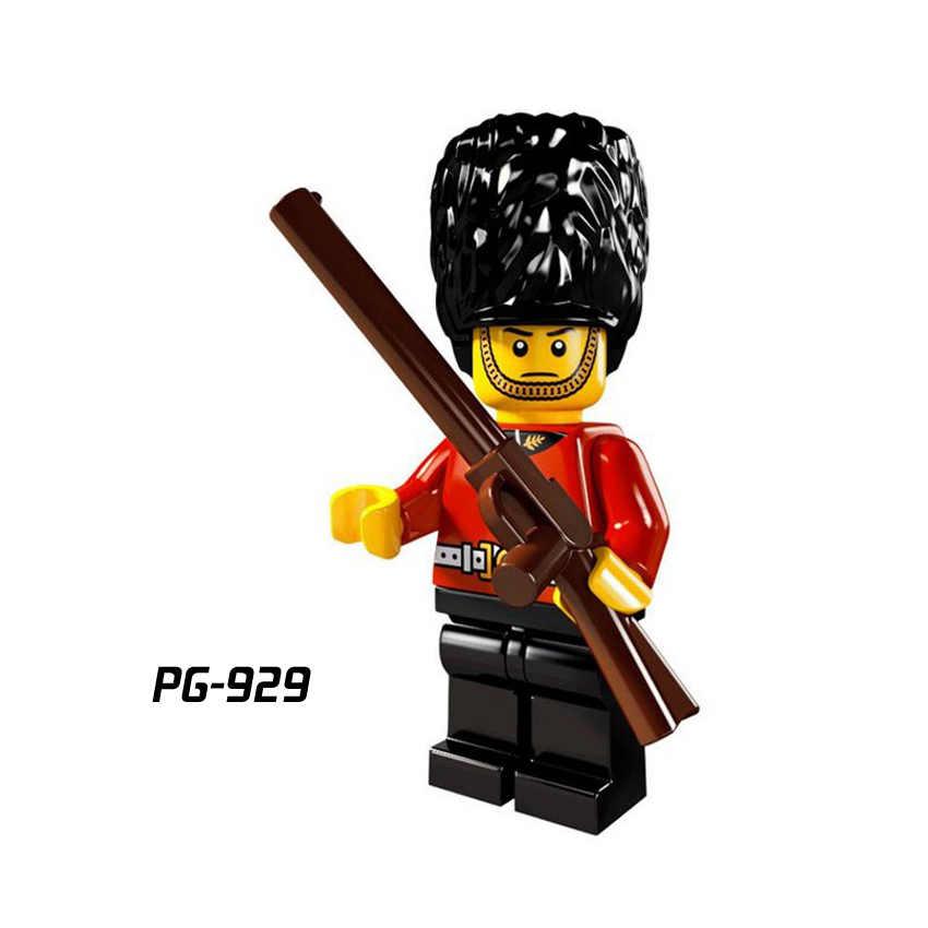 Único soldados Do Exército Imperial Família Real Guardas de honra Com Arma de Blocos de Construção de Brinquedos as crianças presentes Compatível Legoed PG8035