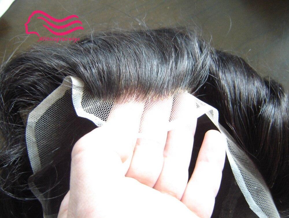 Tsingtaowigs 100% indien remy cheveux dentelle française/suisse dentelle hommes toupet, prothèse cheveux pièces, système de cheveux, 8x10 pouce stock