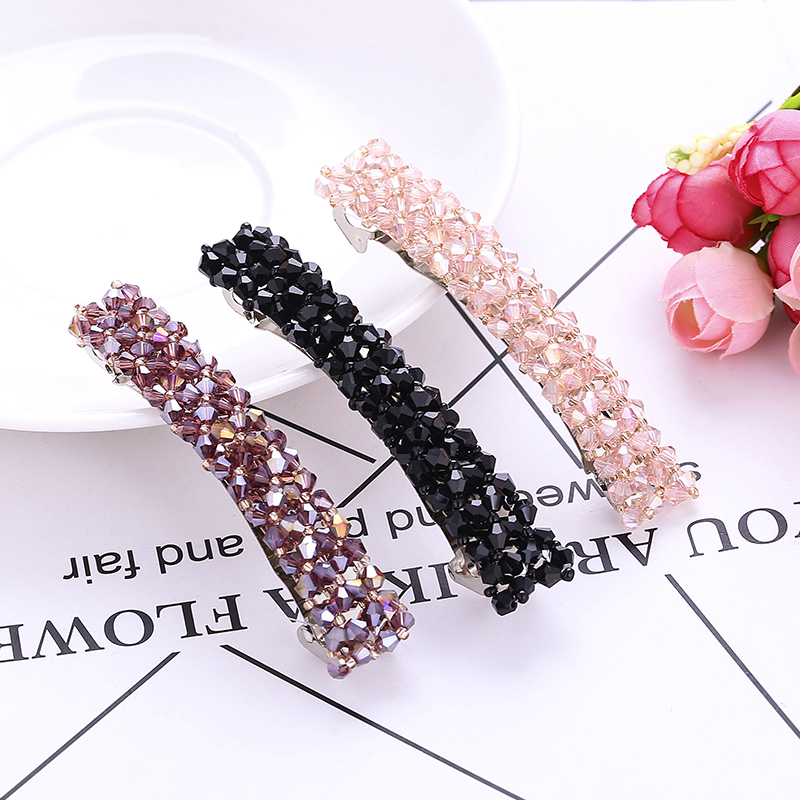 Haimeikang Fashion Women Girls Bling Hair Clip   Headwear   Crystal Rhinestone Hair Clip Barrette Hairpin Hair Accessories