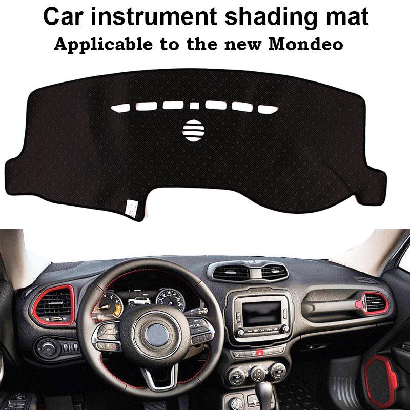 Vehemo фетр ткань силиконовые скольжения приборной панели крышка Dashboard коврики автомобиля интимные аксессуары черный Двигатели Запчасти