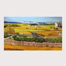 Ручная работа урожай(пшеничные поля) репродукция Винсента Ван Гога картина маслом на холсте для домашнего декора всемирно известные картины