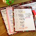 Plan de plan de boxeo calendario bloc de notas bloc de notas de escritorio de trabajo para hacer la lista programador diario semanal organizador de mi agenda planificador mensual