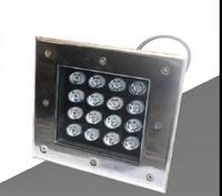 AC85V 16W quadrado para 265V LEVOU enterrado luz impermeável Ao Ar Livre CONDUZIU a luz subterrânea LED RGB vermelho verde azul luz do assoalho 8 pçs/lote