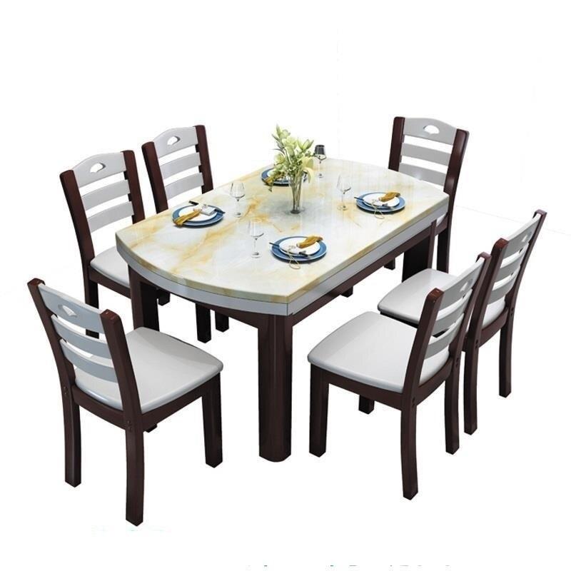 Ensemble De salle à Manger Moderne Table à Manger Moderne en bois De Jantar Mesa Table à Manger