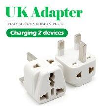 1PC Universal EU US AU to UK presa di corrente ca a 3 pin presa da viaggio caricabatterie da parete presa adattatore convertitore connettore UK Plug bianco
