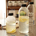2017 novo portátil breakproof lemon garrafa de suco garrafa de esportes espaço copo drinkware 600/1000 ml garrafa de água de bicicleta elegante