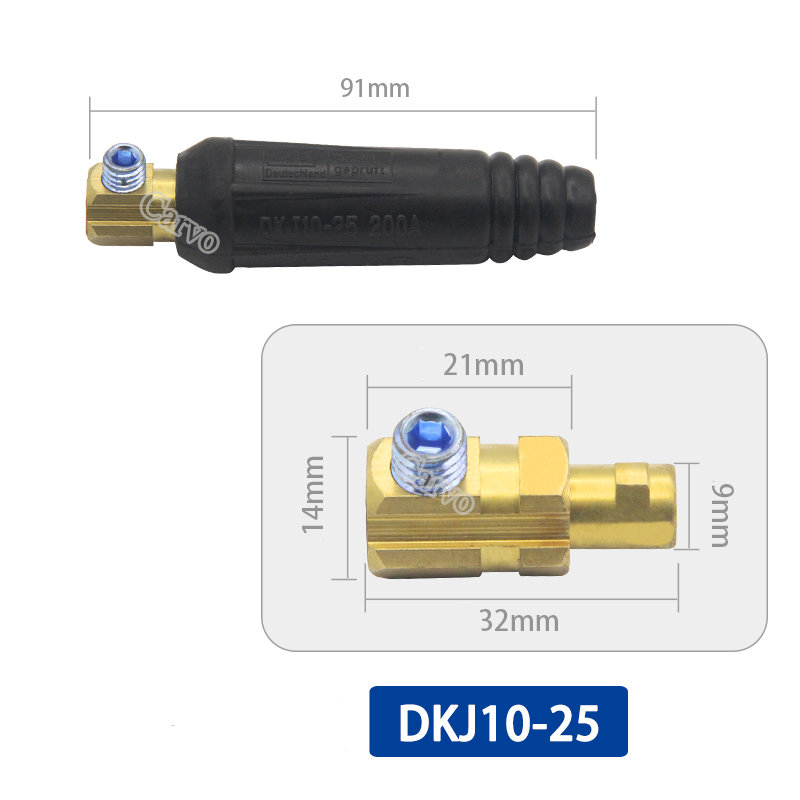 Europe Male & Female Welding Machine Electric Quick Fitting Connector Socket Plug Adaptors For DKJ10-25/DKJ35-50