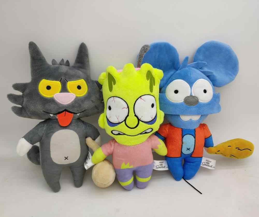 Itchy e Scratchy Show Gato & Rato & Bart Simpsons recheado plush toy nova