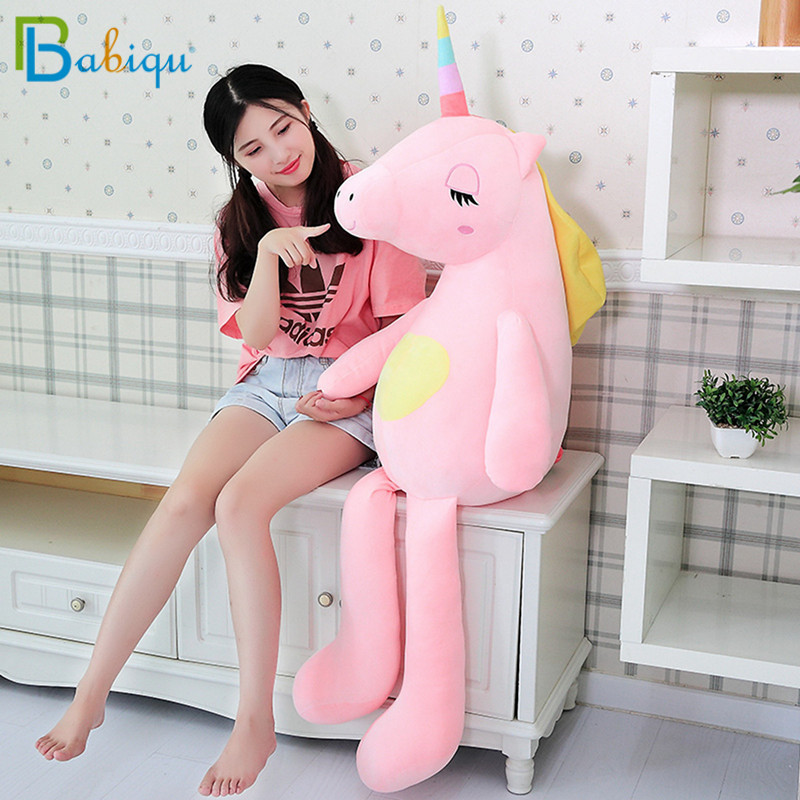 Huge 60-140cm Stuffed Animal Baby Dolls Kawaii Cartoon Rainbow Unicorn Plush toys Kids Present Toys Children Baby Birthday GiftHuge 60-140cm Stuffed Animal Baby Dolls Kawaii Cartoon Rainbow Unicorn Plush toys Kids Present Toys Children Baby Birthday Gift
