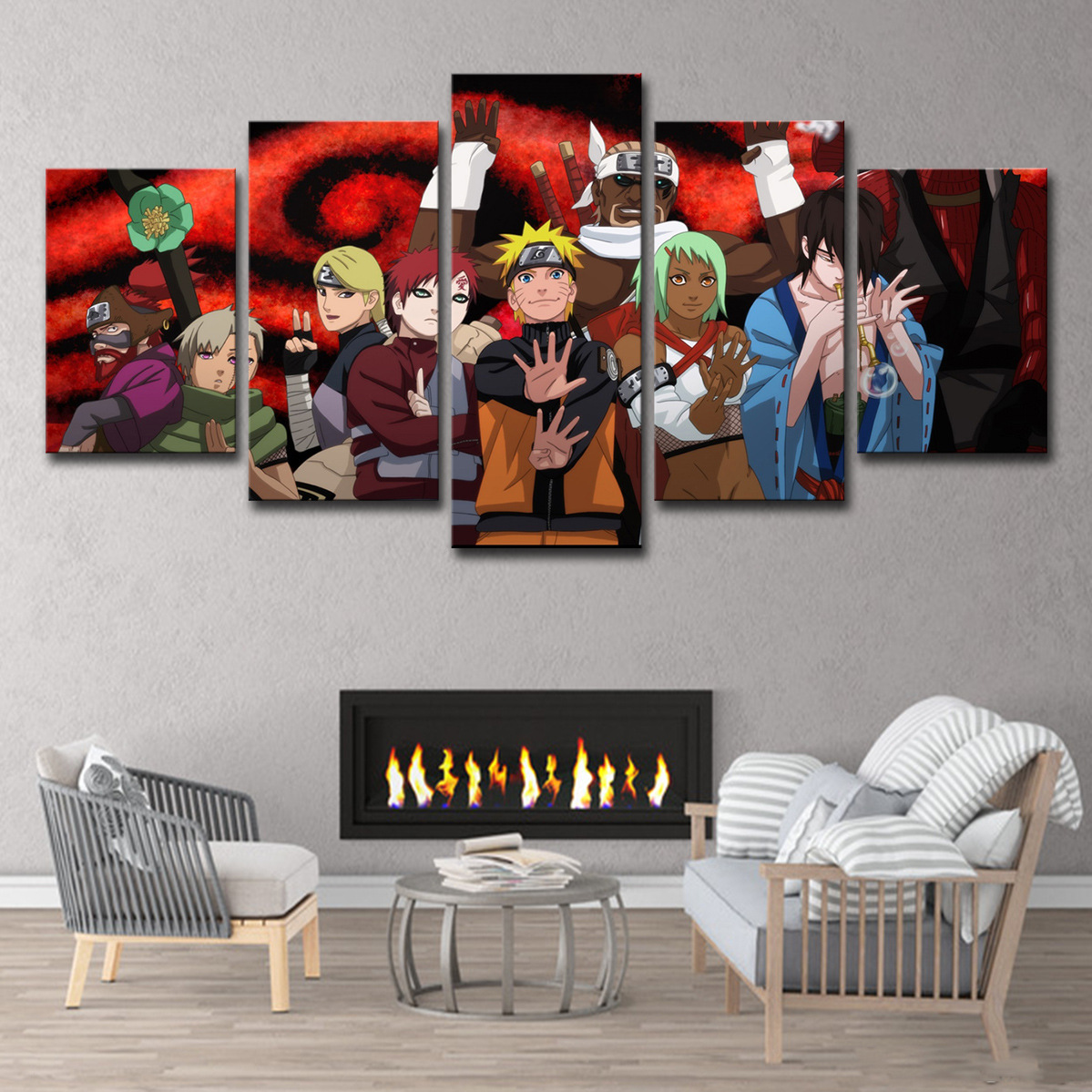 5 Piece Canvas Art Naruto Jinchuuriki Anime Cuadros Decoracion Paintings Wall Art for Home Decorations Wall Decor 1