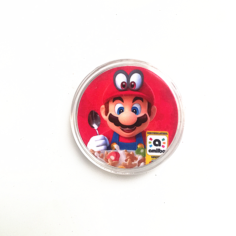 1Pcs/set NFC <font><b>Card</b></font> Of <font><b>Amiibo</b></font> For Super <font><b>Mario</b></font> Cereal Printed Delicious Collection Coin Tag image