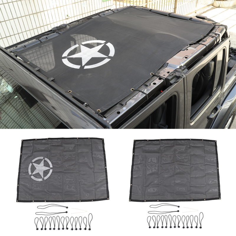 Sunshade Cover for Jeep Wrangler JL 2018 Up Top Rear Trunk Sunshade Anti UV Sun Protection