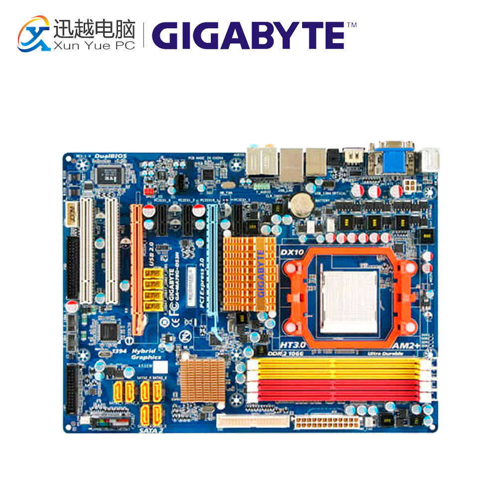 Gigabyte GA-MA78G-DS3H Desktop Motherboard MA78G-DS3H 780G Socket AM2 DDR2 SATA2 USB2.0 ATX gigabyte ga ma770 ds3 original used desktop motherboard amd 770 socket am2 ddr2 sata2 usb2 0 atx