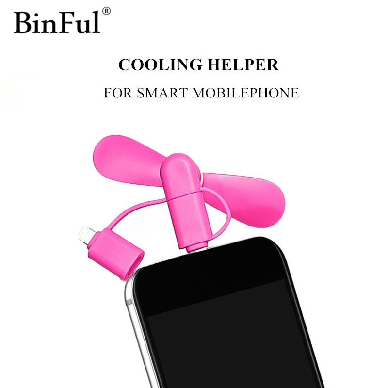 BinFul Mini Portable Cool Micro USB Type-C Fan Mobile Phone USB Gadget For iphone 5 5s 6 6s 7 plus 8 for Android phone usb fan