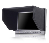 Lilliput 664 Monitor, 7 inch 16:9 LED Field Monitor With HDMI, Composite Video And Collapsible Sun Hood