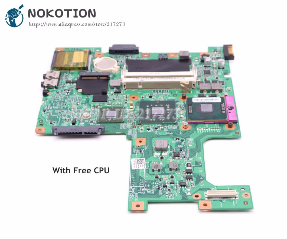 NOKOTION For Dell Inspiron 1545 Laptop Motherboard PM45 HD4570M DDR2 H314N 0H314N CN-0H314N 48.4AQ12.011 Free CPU