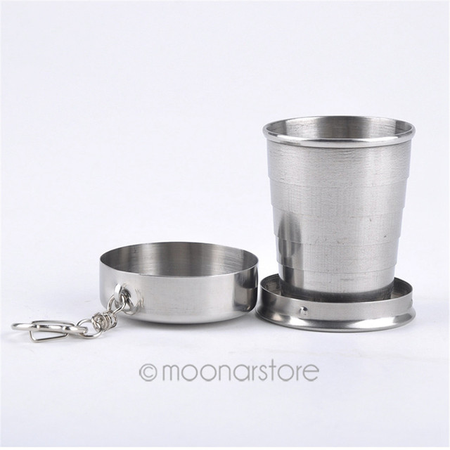 1pc stainless steel camping folding bottel traveling outdoor camping