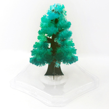2019 100mm H Green Magic Growing Paper Tree Magical Grow Crystals Christmas Trees Regalos Magicos Science Kids Toys For Children 2019 12x8cm hot white magic growing paper snowflake tree magical grow snowflakes flutter crystals snowman trees flakes kids toys