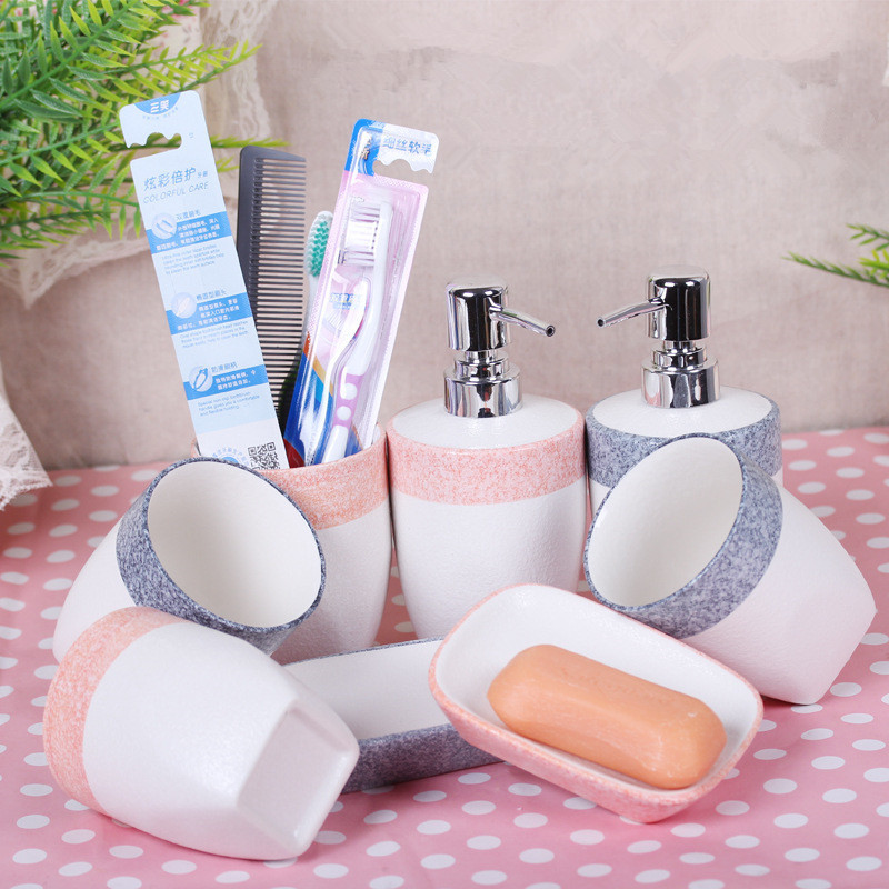 Aliexpress.com : Buy Glamour Girl Boy Bathroom Sets Tooth Brush Cup Soap  Dish Box Lotion Bottle Holder Decoration Products Accessories Goods  Supplier From ...