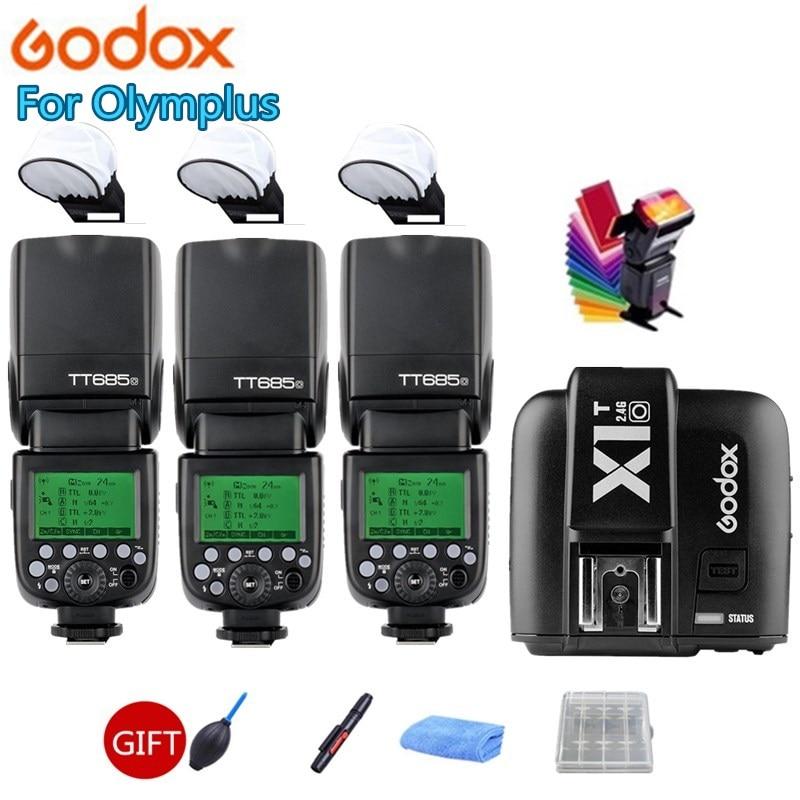 Godox TT685O 2.4G HSS 1/8000 s TTL GN60 Flash sans fil Speedlite X1T-O déclencheur de XPRO-O pour Olympus/Panasonic DMC-FZ2500GK GH4 GH3
