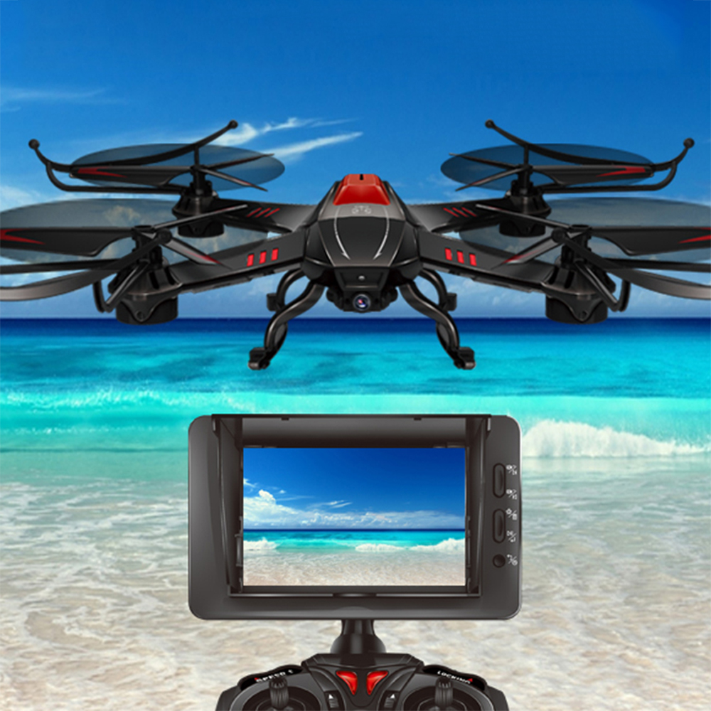 Attop YD-A12 Six Axis RC Drone With Camera HD Remote Controlled Helicopter Parent-Child Toys Gift RTF Real-Time Transmission стоимость