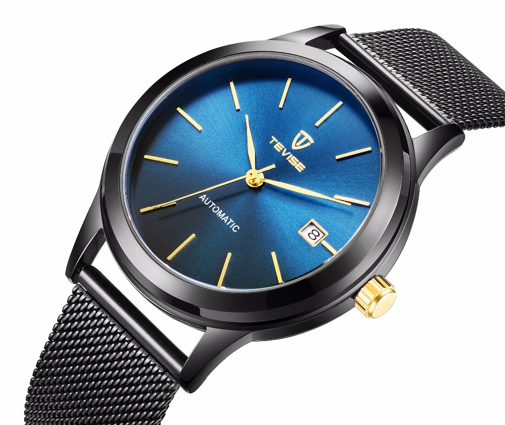 TEVISE Mens Watches Top Brand Luxury Automatic Mechanical Watch Sapphire Luminous relogio masculino 2018 tevise mens watches top brand luxury automatic watch man hollow gold wristwatch mens luminous water resistant mechanical watches
