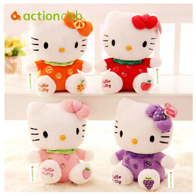 Actionclub New arrival sitting height 20cm hello kitty plush toys hello kitty  toys doll for children HT95600MU new arrival sitting height 30cm hello kitty plush toys hello kitty toys super lovely baby doll classic toys for girls kids gift
