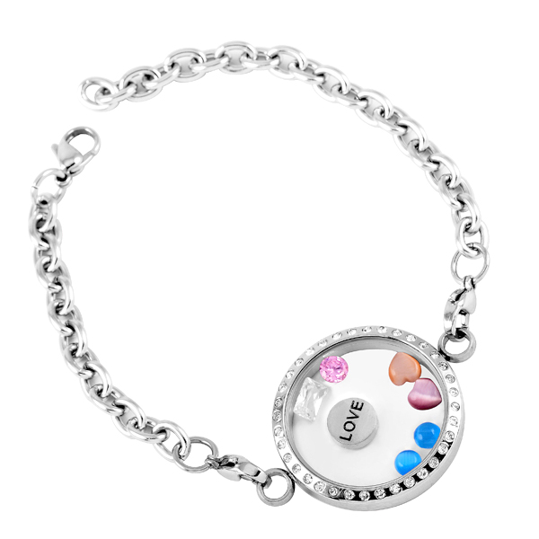 CH 95 Happy mandarin ducks Bracelets for love Polishing stainless steel metal adjustable Jewelry for woman