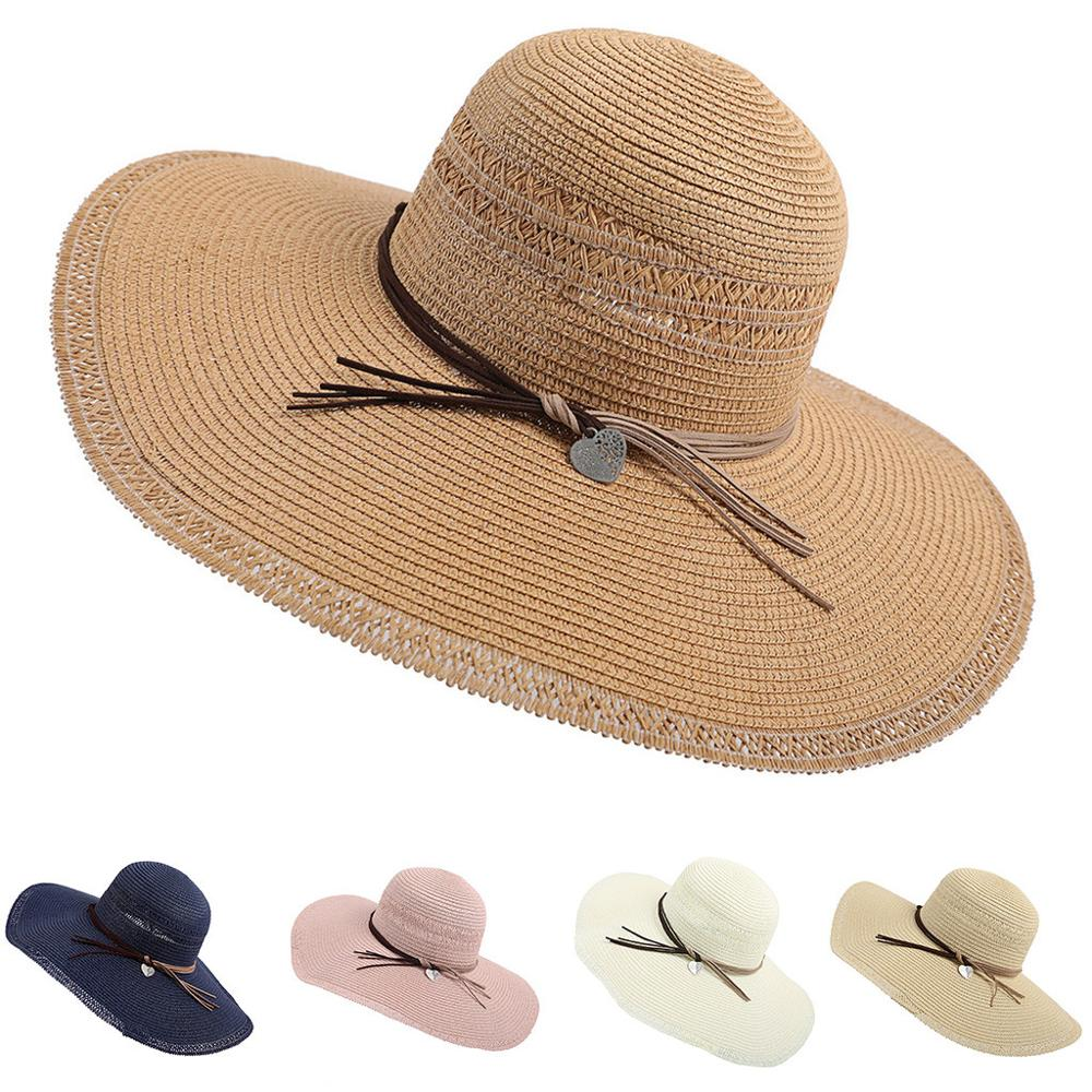 Ladies Straw Trilby Fedora Hat Summer Sun Hat Mens