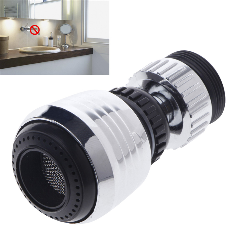 360 Degree Rotate Swivel Faucet Nozzle Filter Adapter Water Saving Tap Aerator Diffuser Bathroom Tools new 360 swivel water saving tap rotate faucet nozzle filter adapter tap aerator diffuser kitchen brand new
