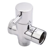 Латунь 3 канальный Насадки для душа переключающий клапан для Ванная комната туалет опрыскиватель кран т-адаптер