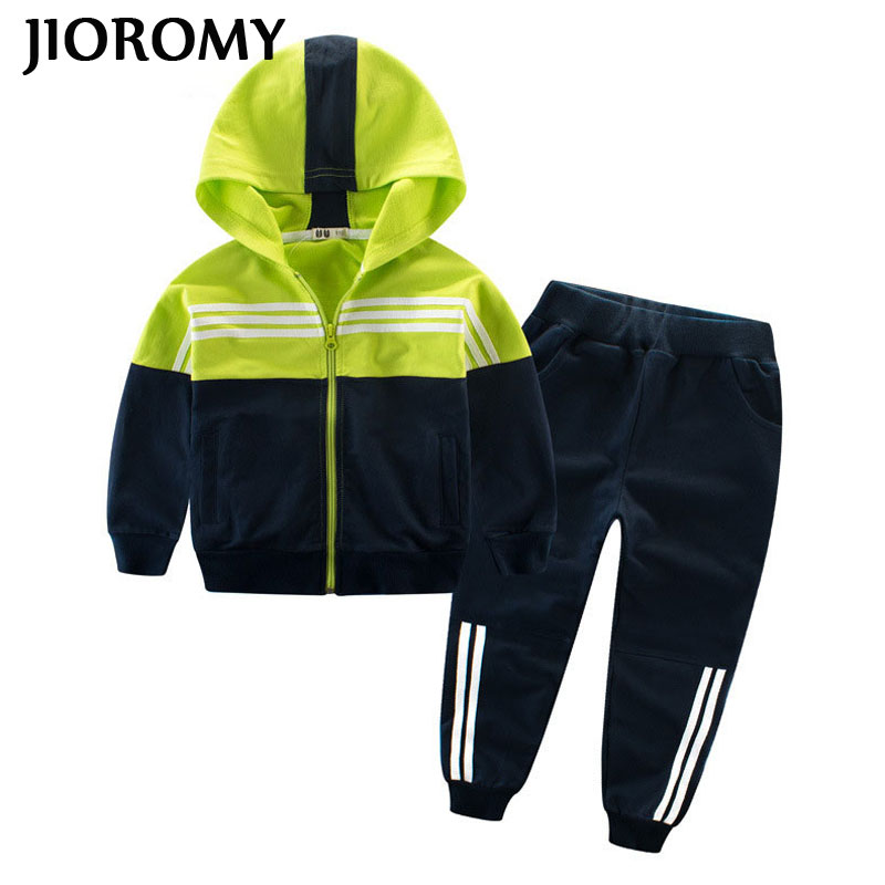 JIOROMY Children Clothing Sports Suit For Boys And Girls Hooded Outwears Long Sleeve Boys Clothing Set Casual TracksuitJIOROMY Children Clothing Sports Suit For Boys And Girls Hooded Outwears Long Sleeve Boys Clothing Set Casual Tracksuit