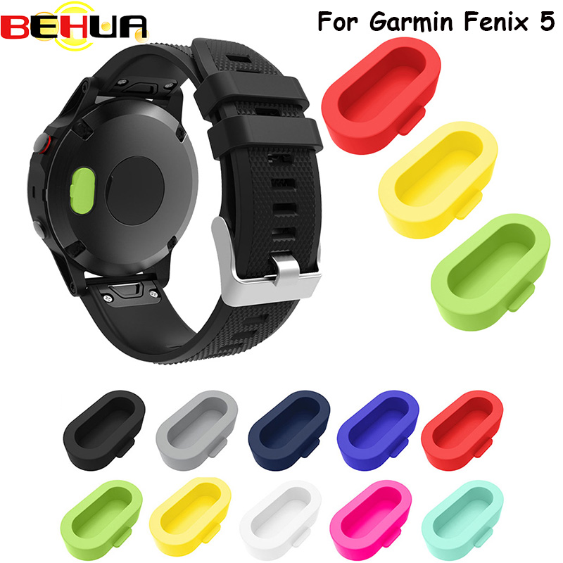 Dust plug function 10 color good designer protector of smartwatch For Garmin Fenix 5 Fenix 5S Fenix 5X Silicone cover 10pcs/ lot protective silicone back case cover w anti dust plug for iphone 5 5s transparent