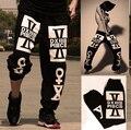 Envío Gratis tops Calidad marca Hiphop 3xl 4xl 5XL Hombres Mujeres Hip Hop Pantalones pantalones de Las Muchachas de Baile Hip-Hop Cruz-pantalones de chándal