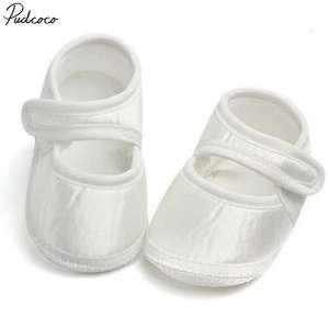 Helen115 Newborn Baby Girl White Sneakers Soft Sole Crib Shoes Newborn to 6 Months