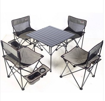 Folding Chair Picnic Table Retro Dining Mini 5pcs And Chairs Set With Camping