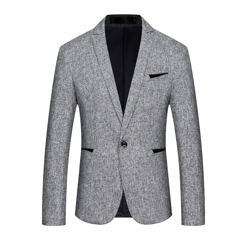 61c5edb9a13 Mens Blue Gray Blazer Jacket 4X 5XL Business Casual Blazers for Men Cheap  Fashion Slim Fit Men Black Suit Jacket DT551-in Blazers from Men s Clothing  on ...