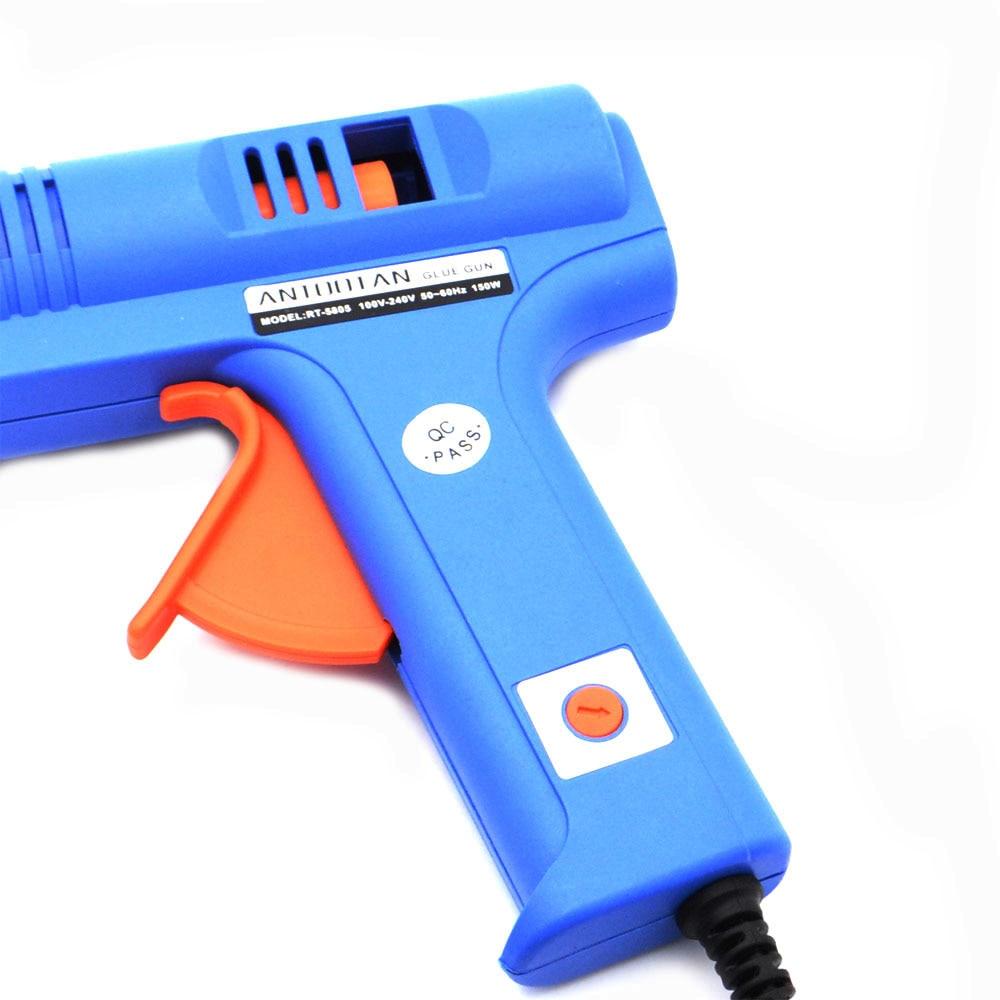 Image 4 - 150W EU Plug BULE Hot Melt Glue Gun with  Temperature Tool Industrial Guns Thermo Gluegun Repair Free 1pc 11mm Stick-in Glue Guns from Tools on