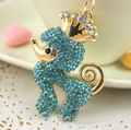 Anime cartoon poodle key chain/new 2016 designer brands luxury fashion jewelry for women accessories wholesale/llavero/chaveiro