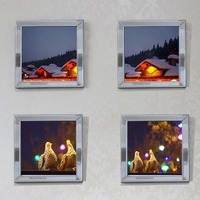Mirrored Wall Frame Decoration Picture Frames Sets Wall Mural Decorative Frame Glass Mirror Border Frame Picture