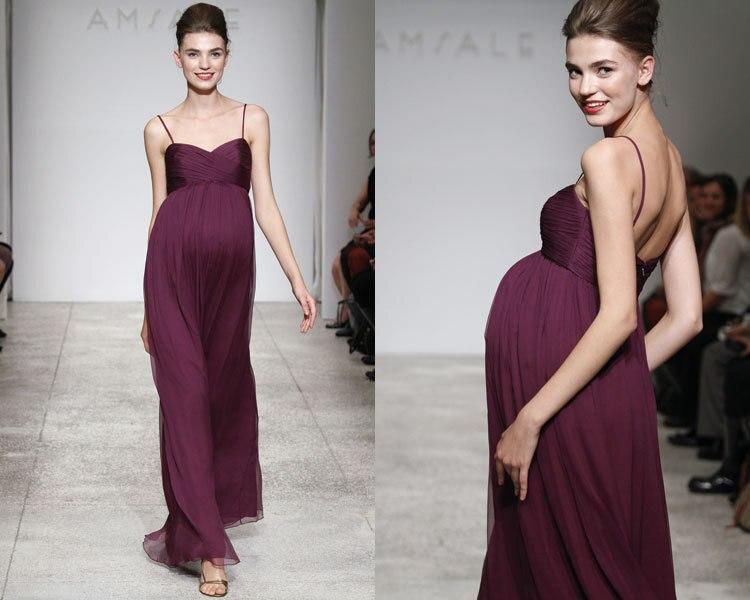 Бесплатная доставка, сексуальные вечерние платья для беременных, vestido de festa vestidos longo 2018, новые модные фиолетовые длинные платья подружки неве