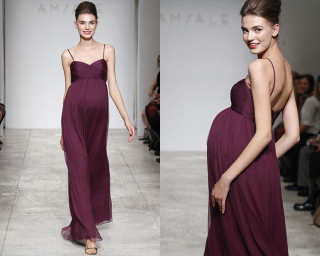 Free Shipping Sexy Party Pregnant Woman Vestido De Festa Vestidos Longo  New Fashion Purple Long