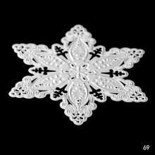 Square Snowflake metal cutting mold DIY scrapbook album decoration supplies clear seal paper card