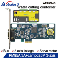 cnc controller 3 axis water cutting control systemPM95A 3A+Lambda5M Supports Height measurement servo motor double Y axis