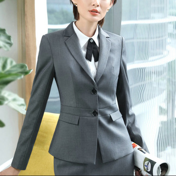 2018 Spring Autumn OL Classic Long Suit Interview Sale Work Jaqueta Feminina Jacket Blazer Feminino Office Uniform Designs Women Классический костюм