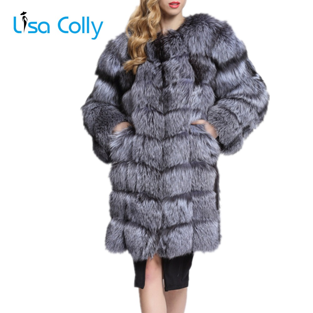 Lisa Colly Frauen Faux Pelz Mantel Jacke Warme Faux Fuchs