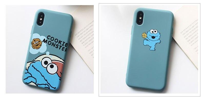 Sesame Street Case For iPhone 8 8plus 7 7 Plus Cases Silicone Phone Case For iphone 6 s 6s Plus X XR XS Max Cases Cover Coque    (14)