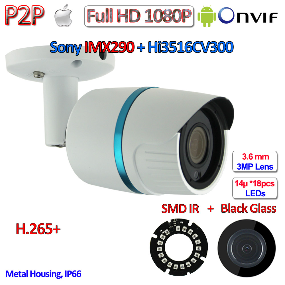 BEST H.265+ P2P 2MP Mini IP Camera Onvif Hisilicon 1080P IMX290 IP Camera Outdoor, H.264, IR-CUT, PoE optional, 3.6mm Lens, WDR h 265 1080p ip cctv 2 0mp onvif 2 4 imx290 camera ip p2p night vision ip camera poe ir cut h 264 2 8 12mm 3mp hd lens wdr
