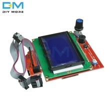 Diymore 12864 LCD Graphic Smart Display Controller Panel Blue Screen Module for arduino 3D Printer RAMPS  with Adapter and Cable